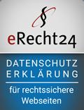 eRecht24 – Datenschutzerklärung– für rechtssichere Webseiten